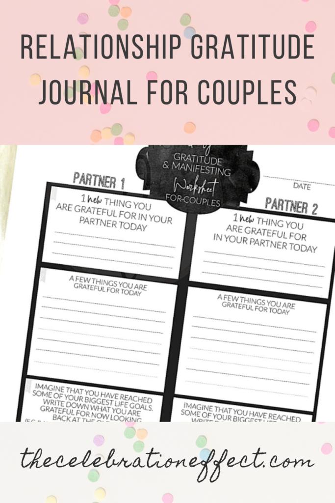 Relationship Gratitude Journal for Couples