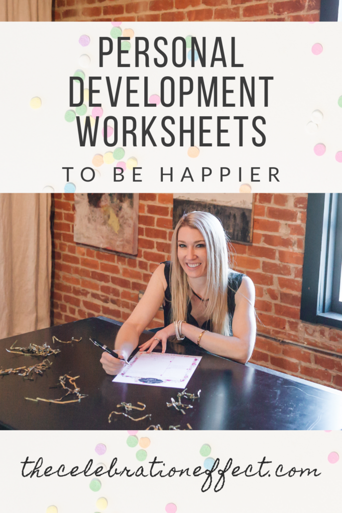 Personal Development Worksheets to Be Happier