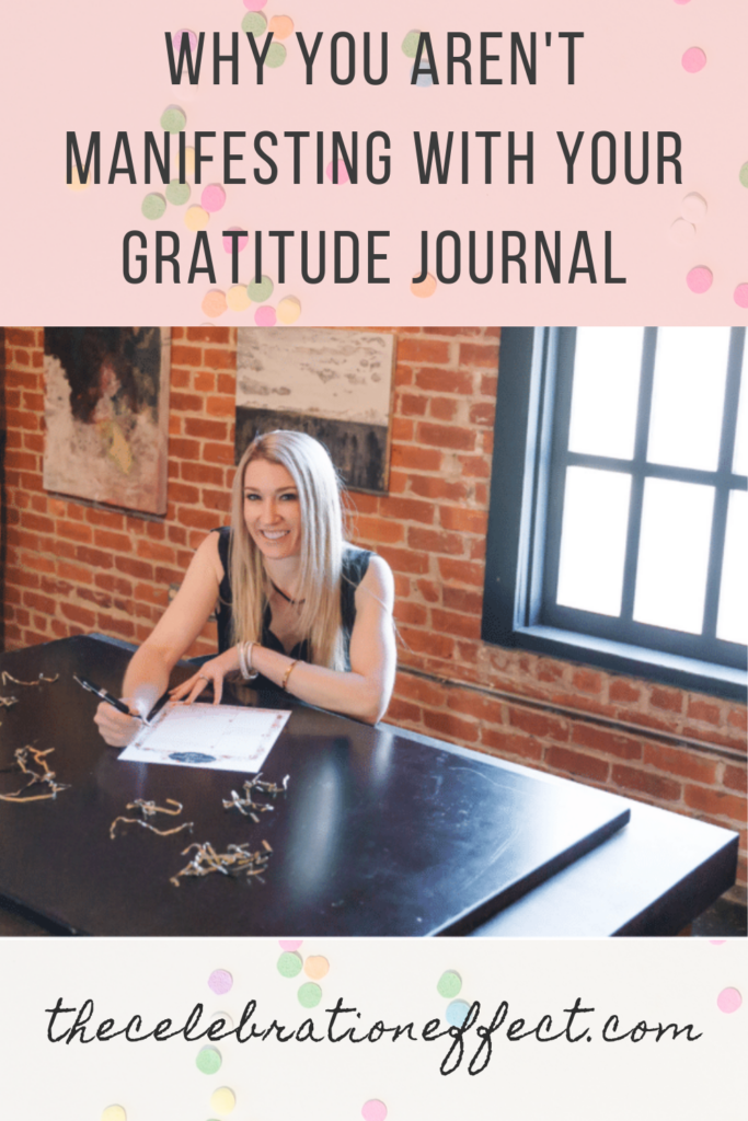 Why you aren't manifesting with your gratitude journal