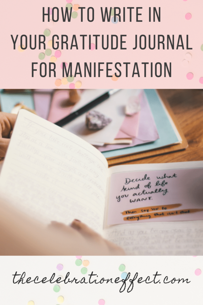how to write in your gratitude journal for manifestation